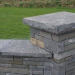 Our Wall Capping and Pier Caps are of the highest standard and provide an excellent finish to walls of all types as shown here with our Guillotined Building Stone