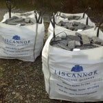 Our Guillotined Stone is delivered in bags as seen here