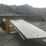 Some Flagstone being extracted from our Quarries.