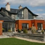 Our Liscannor Guillotined Stone and Wall Capping shown in this fine private dwelling.