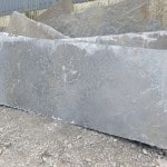 Our stone is completely natural. Seen here some flagstone slabs fresh from our Quarries