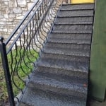 Shown here our flagstone steps used on exterior entrance to building