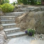 Our Liscannor stone steps used as Garden Stones